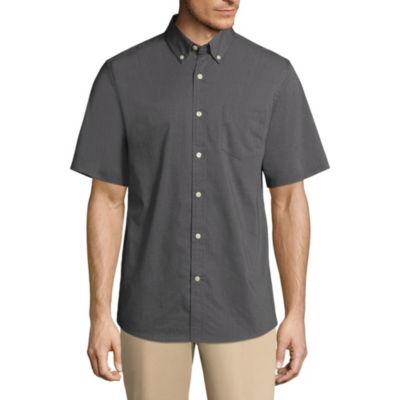 St. John's Bay Short Sleeve Button-Front Shirt-Slim