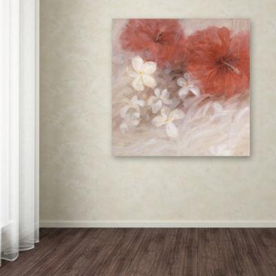 Trademark Fine Art Li Bo Hibiscus II Giclee CanvasArt