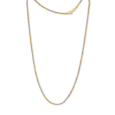 Made in Italy 24K Gold Over Silver Sterling Silver 24 Inch Solid Singapore Chain Necklace