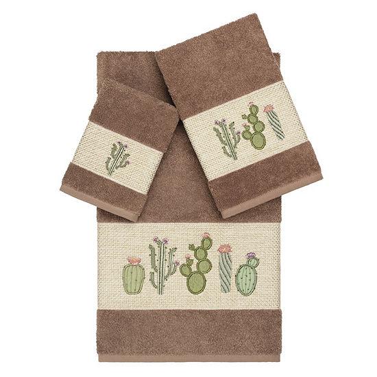 Linum Home Textiles 100% Turkish Cotton Mila 3PC Embellished Towel Set