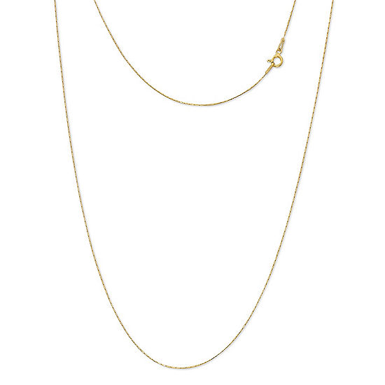 Made In Italy 24k Gold Over Silver Sterling Silver 24 Inch Solid Link Chain Necklace