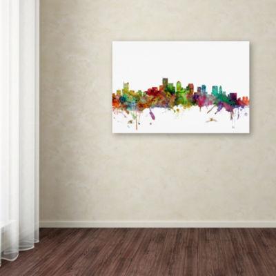 Trademark Fine Art Michael Tompsett Boston Massachusetts Skyline Giclee Canvas Art