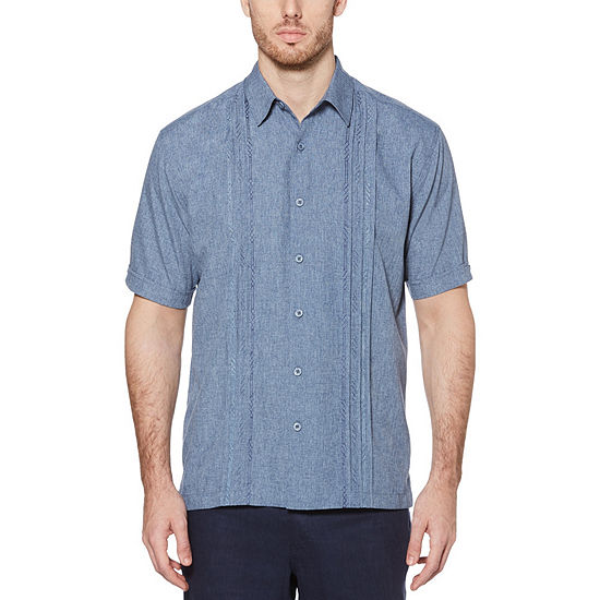 Cubavera Big and Tall Mens Short Sleeve Button-Front Shirt