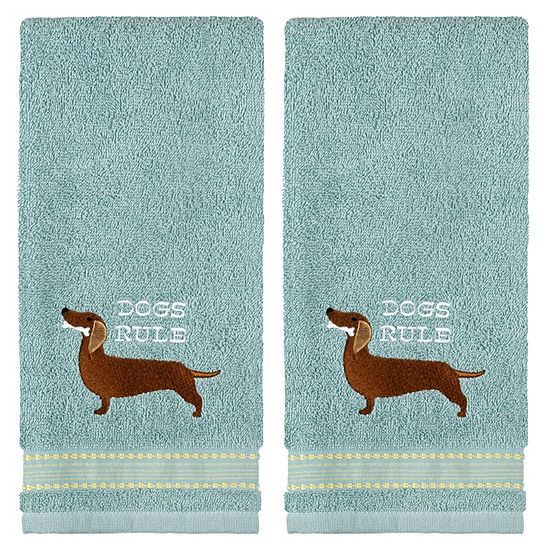 Saturday Knight Dogs Rule Bone 2-pc. Animals + Insects Hand Towel