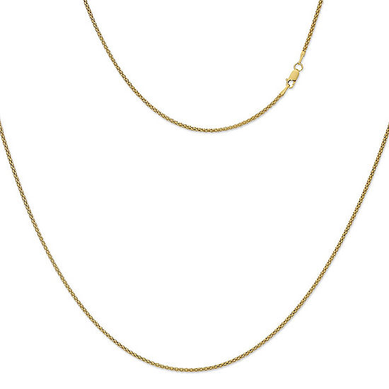 Made in Italy 24K Gold Over Silver Sterling Silver 30 Inch Solid Link Chain Necklace