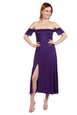 24/7 Comfort Apparel Island Fire Maxi Dress - Plus