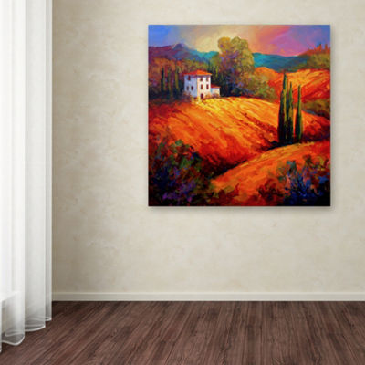 Trademark Fine Art Marion Rose Tuscan Villa Evening Giclee Canvas Art