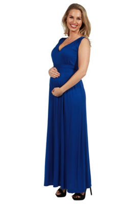 24/7 Comfort Apparel Island Fire Maxi Maternity Dress - Plus