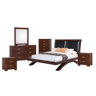 Picket House Furnishings Zoe Platform with Upholstered Headboard 6-pc. Bedroom Set