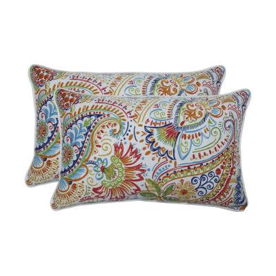 Pillow Perfect Gilford Festival Set of 2 Rectangular Outdoor Throw Pillows