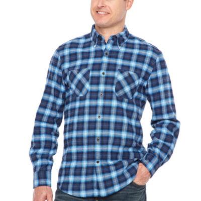 Big Mac Mens Long Sleeve Moisture Wicking Flannel Shirt Tall