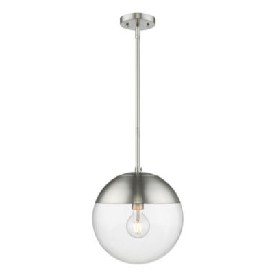 Golden Lighting Dixon Pendant in Pewter with ClearGlass