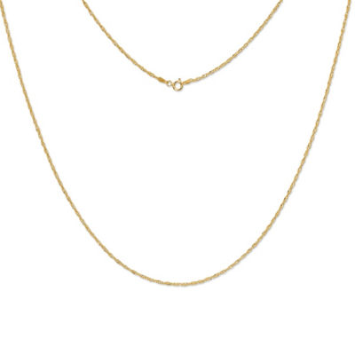 Made In Italy Sterling Silver Gold Over Silver 30 Inch Chain Necklace