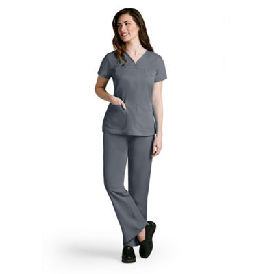 Barco™ Grey's Anatomy 41340 3 Pocket V-Neck Tonal Stitch Scrub Top