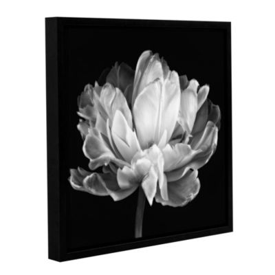 Tulipa Double Black and White II Floater-Framed Gallery Wrapped Canvas
