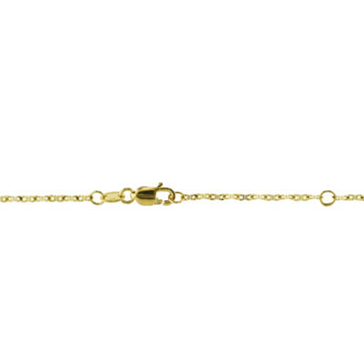 Sechic 14K Gold 17 Inch Hollow Link Chain Necklace