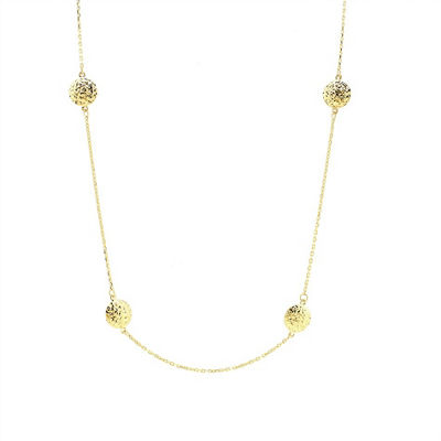 Sechic Womens 14K Gold Round Y Necklace