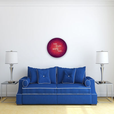 Motivational Wall Art Worry Less 16-inch Round