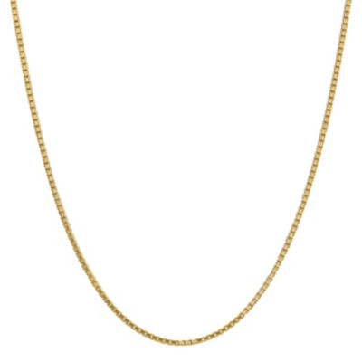 14K Gold 16 Inch Solid Box Chain Necklace