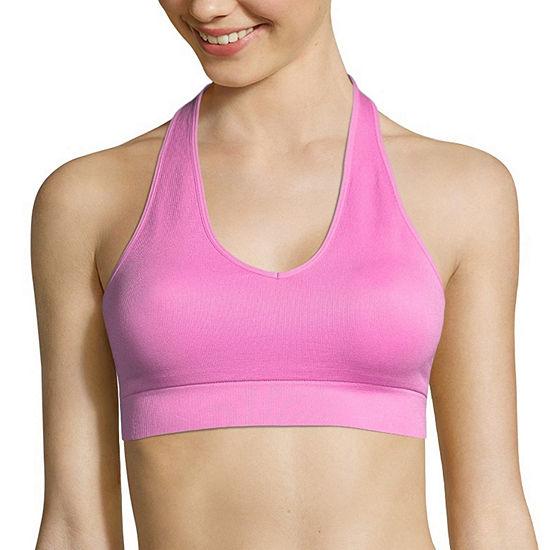 Flirtitude Ribbed Seamless Halter Bralette Sports Bralette-J3220