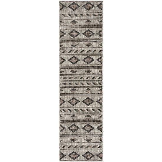 Safavieh Courtyard Collection Luana Geometric Indoor/Outdoor Runner Rug