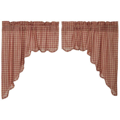 Americana Window Independence Scalloped Swag Pair