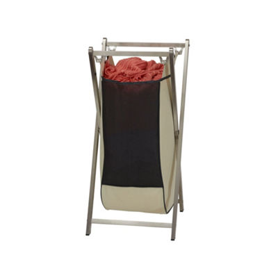 Household Essentials Folding X-Frame Laundry Hamper Stainless Steel Frame