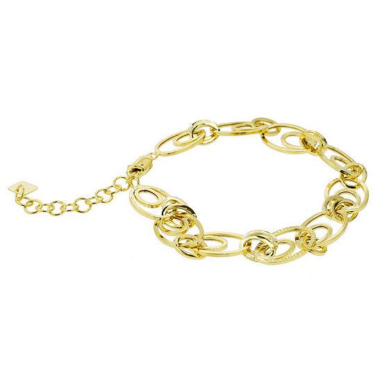 Sechic 14k Gold 75 Inch Solid Link Link Bracelet