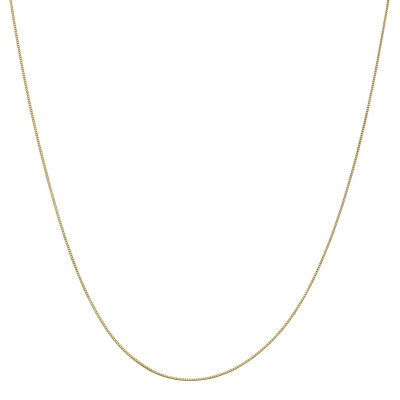 14K Gold Solid Box 14 Inch Chain Necklace