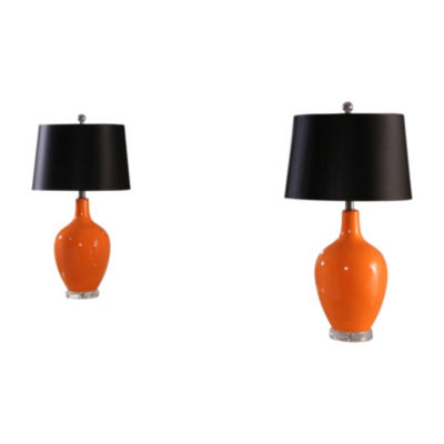 Borneo Ceramic Table Lamp Set Of 2