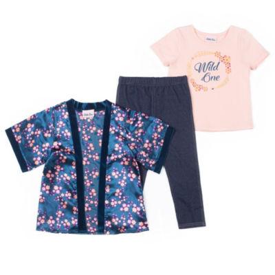 Little Lass Kimono Legging Set - Preschool Girls