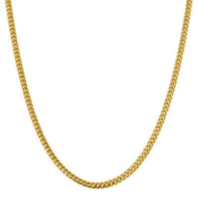 14K Gold 18 Inch Solid Curb Chain Necklace