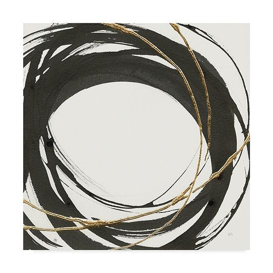Trademark Fine Art Chris Paschke Gilded Enso III Giclee Canvas Art