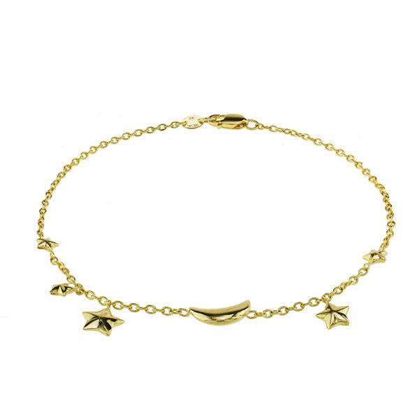 Fine Jewelry Sechic Womens 14K Gold Charm Bracelet BRDkobG