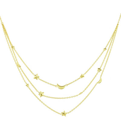 Sechic 14K Gold 16 Inch Hollow Link Chain Necklace
