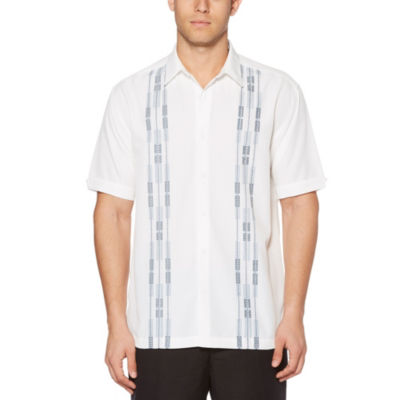 Cubavera Mens Short Sleeve Pattern Button-Front Shirt-Big and Tall