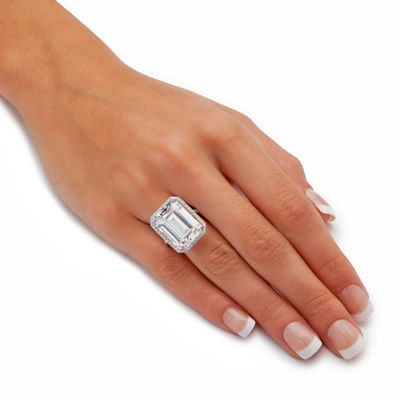 Diamonart Womens Greater Than 6 CT. T.W. White Cubic Zirconia Cocktail Ring