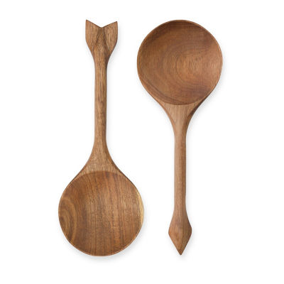 Rustic Farmhouse™ Acacia Wood Serving Spoons by Twine