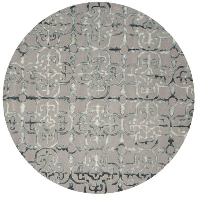 Safavieh Dip Dye Collection Danny Floral Round Area Rug