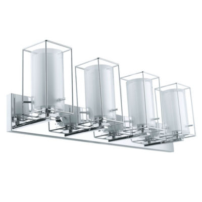 "Eglo Iride 4-Light 35"" Chrome Vanity Wall Light"