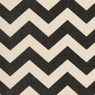 Safavieh Courtyard Collection Cennetig Chevron Indoor/Outdoor Runner Rug