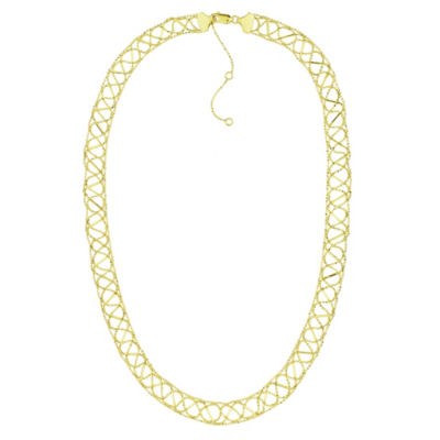 Sechic 14K Gold 16 Inch Hollow Chain Necklace