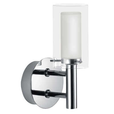 "Eglo Palermo 1-Light 5"" Chrome Wall Light"