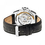 Heritor Armstrong Mens Automatic Black Leather Strap Watch-Herhr3401
