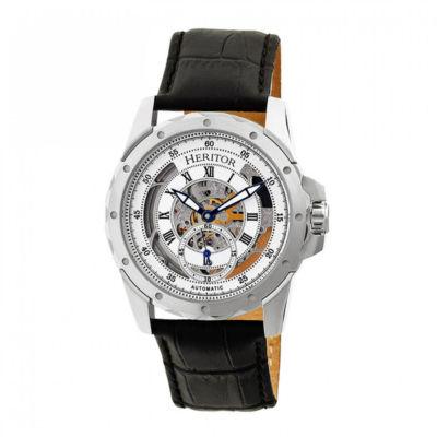 Heritor Armstrong Mens Black Strap Watch-Herhr3401