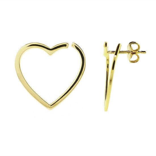 Sechic 14K Gold Heart Ear Pins