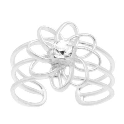 Itsy Bitsy Toe Ring Clear Sterling Silver Toe Ring