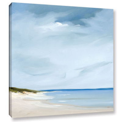 Brushstone Blue Gallery Wrapped Canvas
