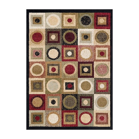 Tayse Ethan Contemporary Geometric Rug Collection