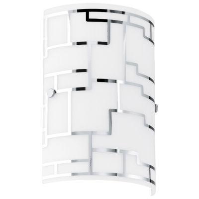 "Eglo Bayman 1-Light 7"" Chrome Wall Sconce Wall Light"""
